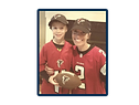 Amanda and her son in Atlanta Falcons gear