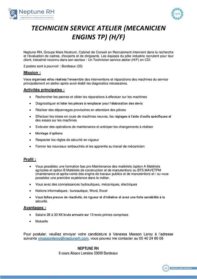 Annonce_école_poste_technicien_de_servi