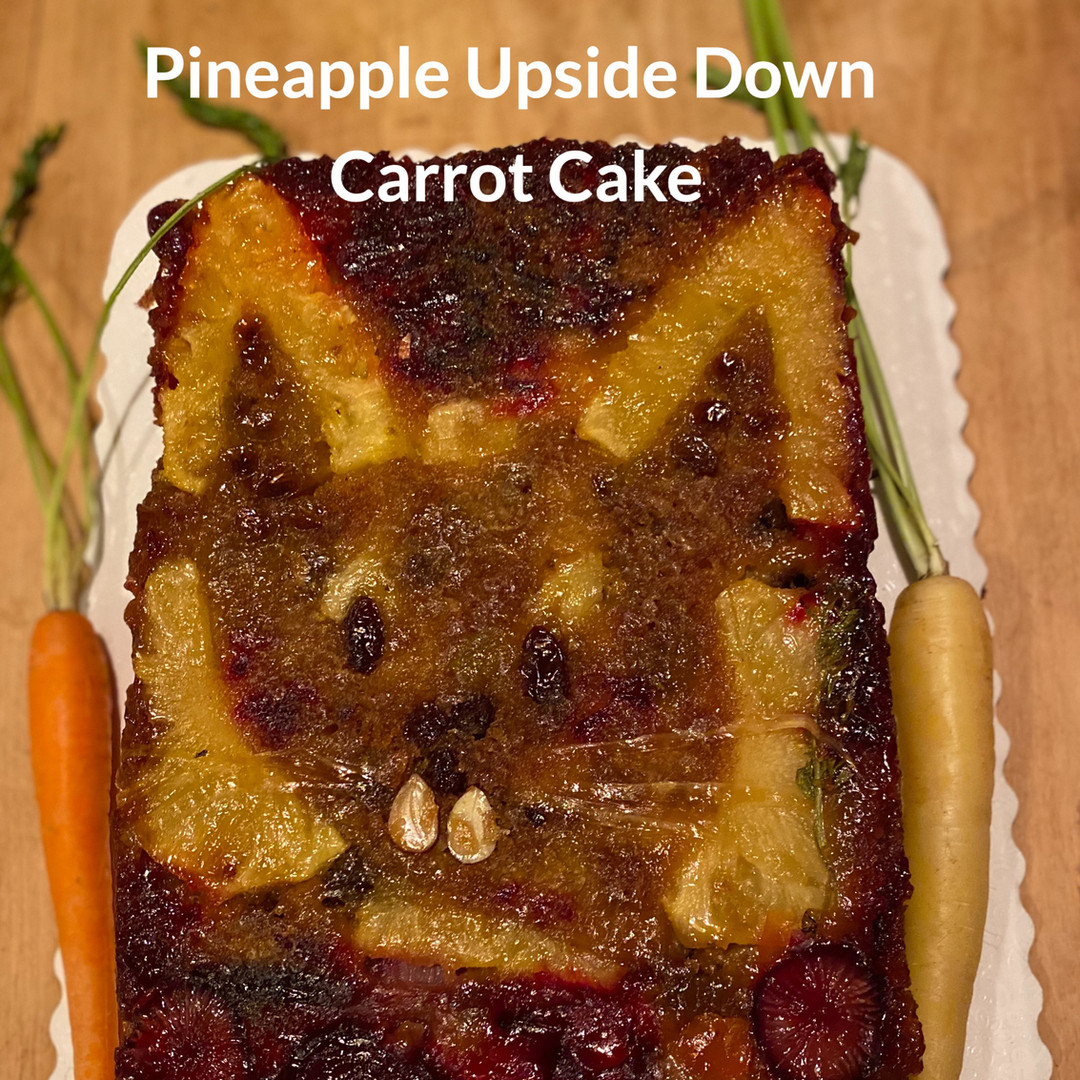 Our client was deciding between a Pineapple Upside Down Cake, or a Carrot Cake for Easter