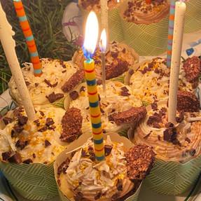 Coconut Cupcakes with Chocolate & Vanilla Buttercream