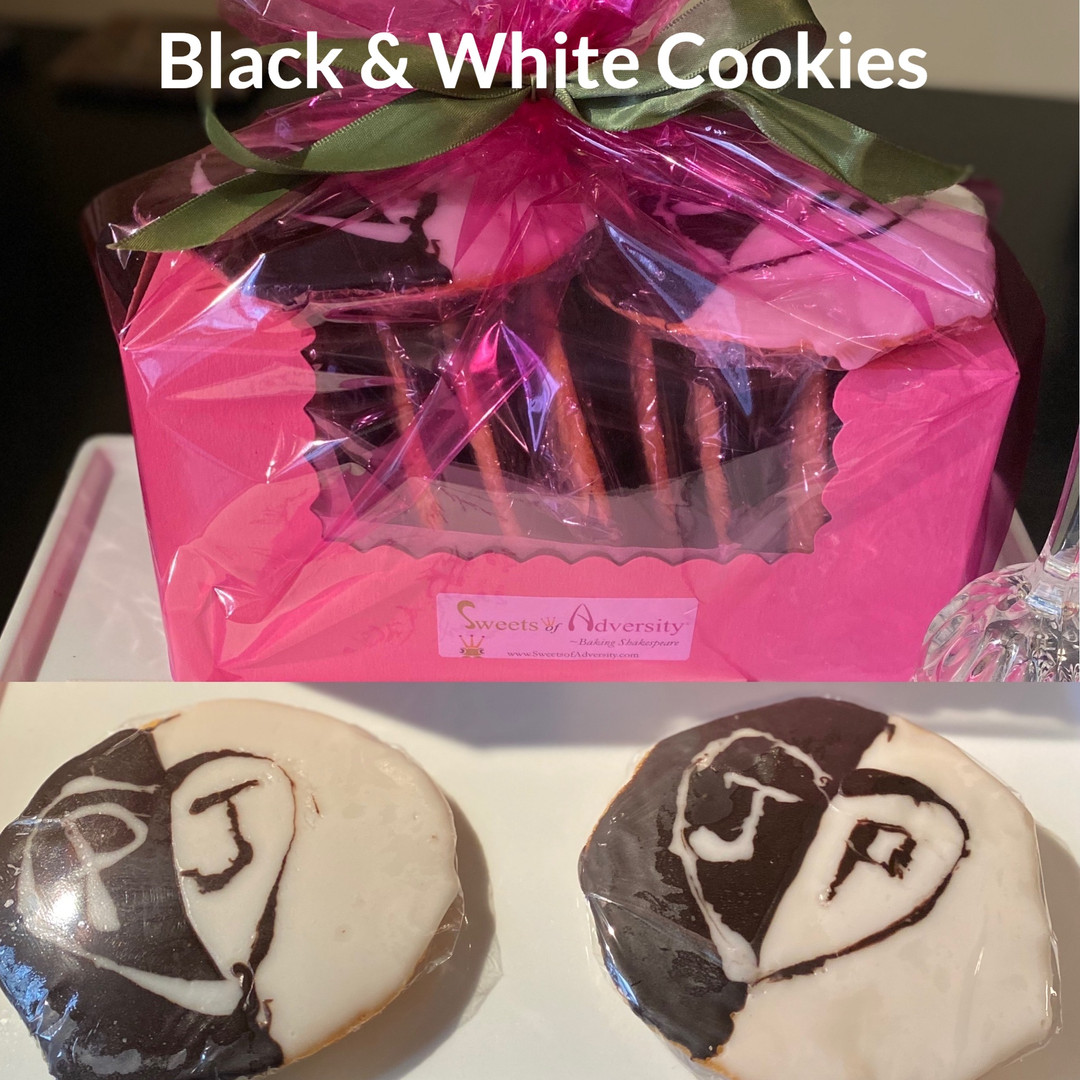 Black & White Cookies - the favorite NYC treat, personalized for two grooms on their nuptials
