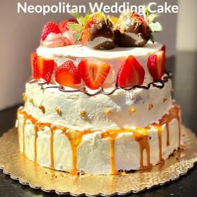 Chocolate Cake w/ Caramel Layer, Vanilla Cake w/ Chocolate Ganache, & Strawbrry Cake w/ Chantilly Cream.