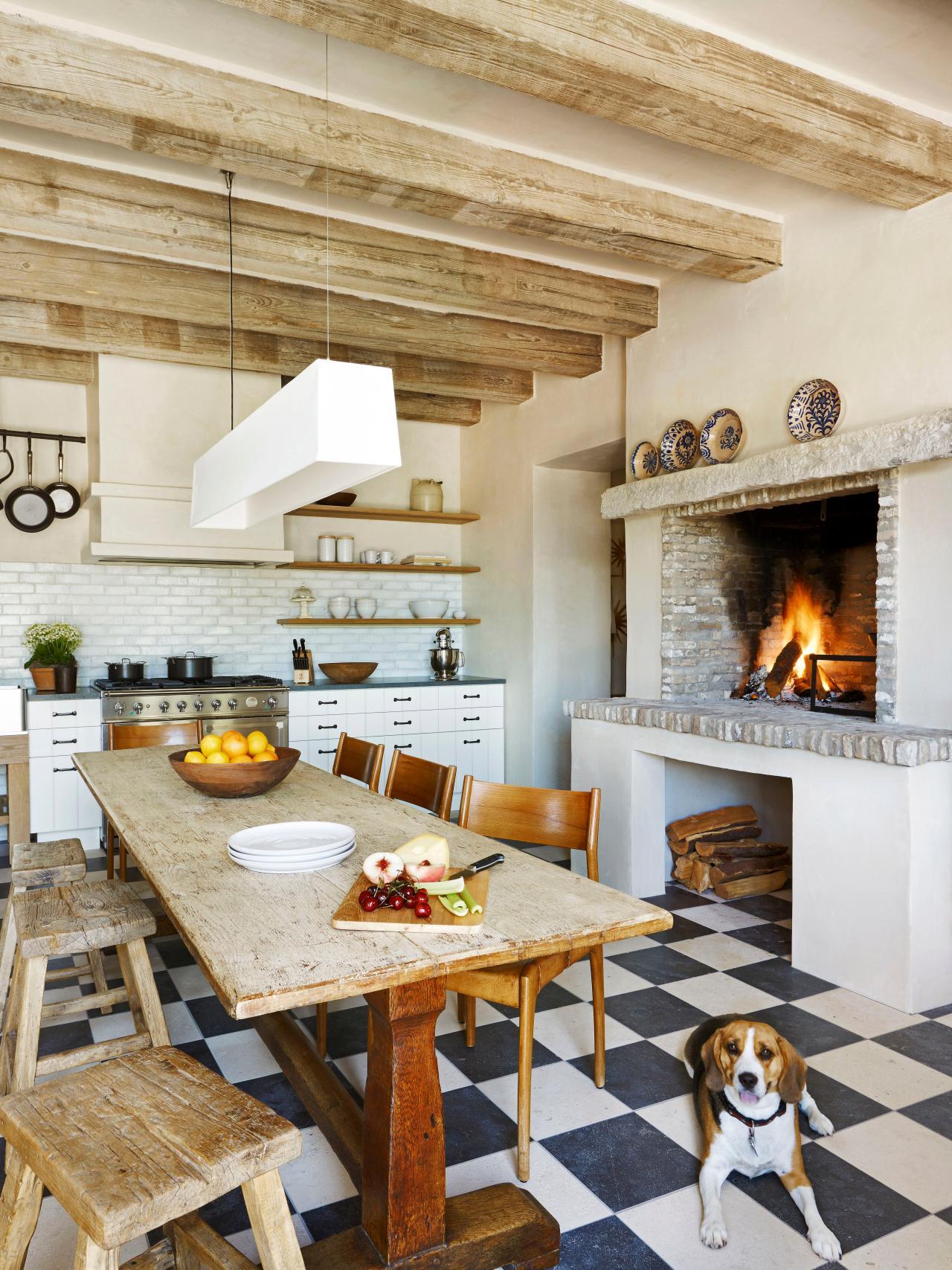Checkerboard Flooring Kitchen Kitchen Hearth Stephen Saint Onge Studio