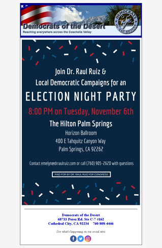 Election Night Party - Hilton Palm Springs