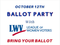 LWV's Virtual Ballot Party 10/12