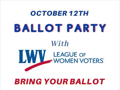 LWV's Virtual Ballot Party 10/12