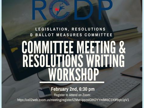 RCDP | Committee Meeting & Resolutions Writing Workshop