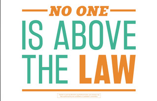 """""""No One Is Above the Law"""" Event"""