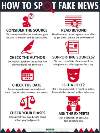 DON'T GET TAKEN IN! TIPS FOR ANALYZING NEWS SOURCES