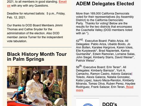 desDems Newsletter 2.10.21