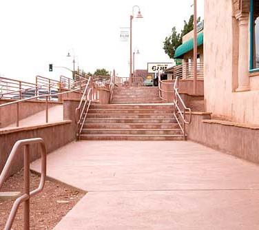 Uptown Sedona Arizona Metal Railing