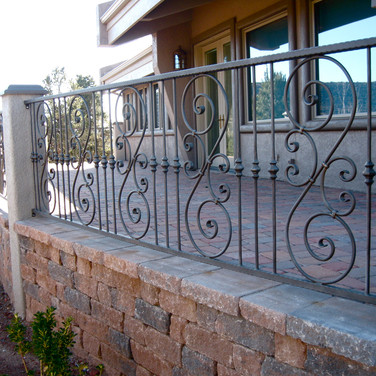 Iron Railing Deck Sedona