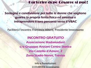 Treviso, 5 febbraio - Partorire dopo un cesareo si può!