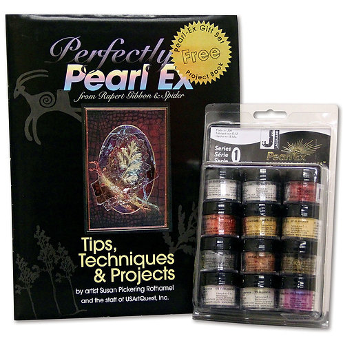 Jacquard Pearl-Ex Pigment - 0.1 oz, Set of 12 with Book