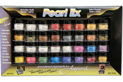 Jacquard Pearl-Ex Pigment - 0.1 oz, Set of 32