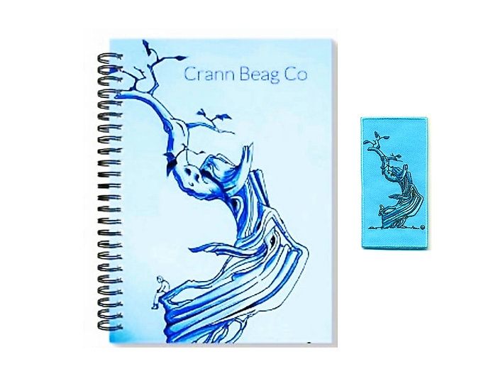 High Gloss A5 Blank Notepad + embroidery Patch