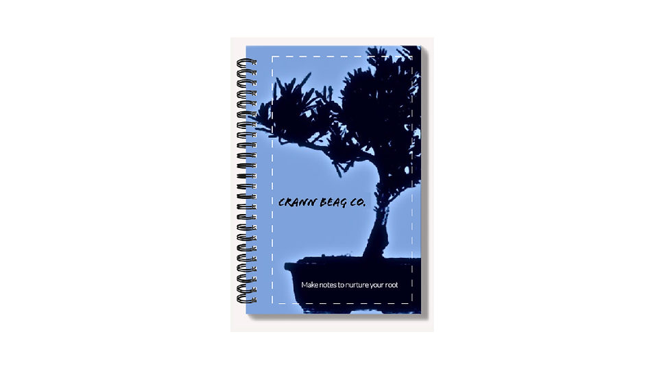 High Gloss A6 Notepad with bonsai blue logo