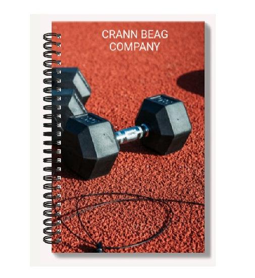 High Gloss A6 Notebook: Fitness Man