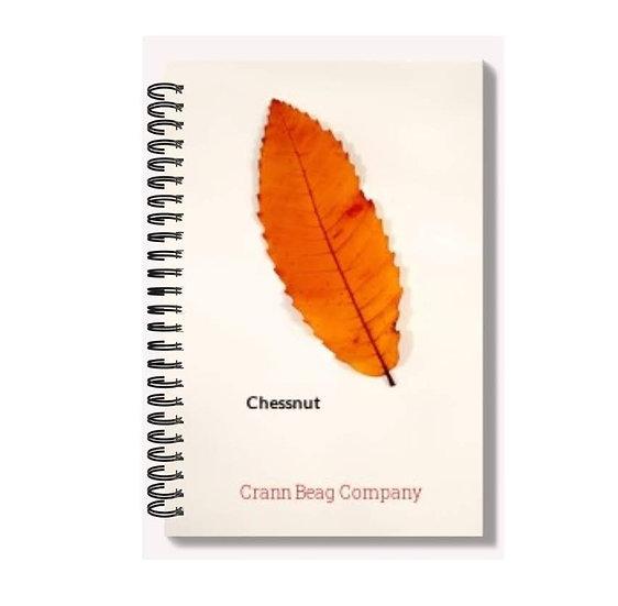 High Gloss A6 Notepad Autumn Chestnut