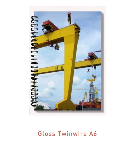 High Gloss A6 Notepad Belfast Harbour