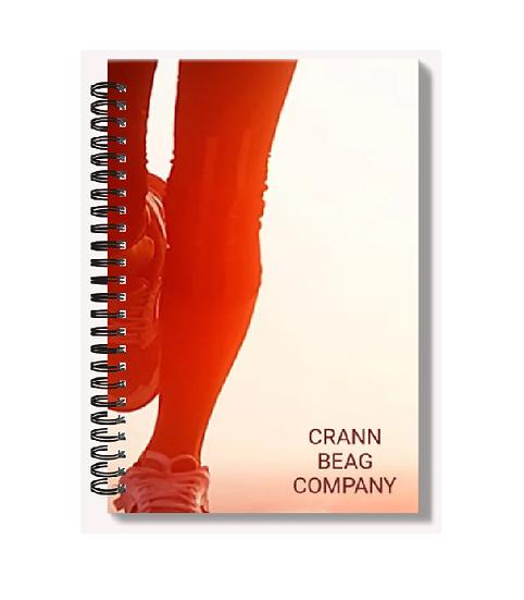 High Gloss A6 Notebook: Fitness Woman
