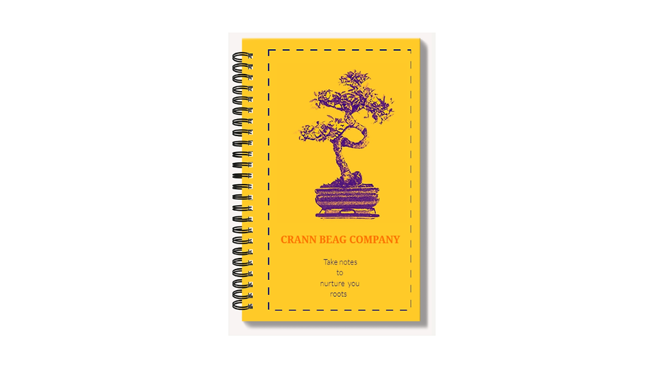 High gloss A6 notepad with Bonsai orange