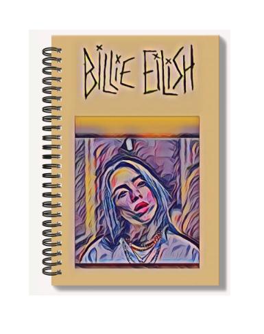 High Gloss A6 Notebook: Billie Eilish