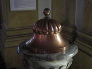 Couvercle de baptisphère en cuivre