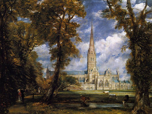 """Museum Exhibition: """"Constable in Context: Salisbury Cathedral from the Meadows in Perspective&q"""