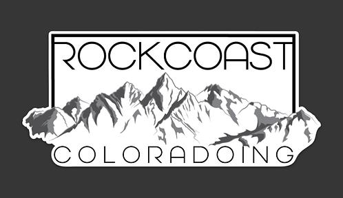"Rock Coast Coloradoing Sticker 3"" x 6.5"""