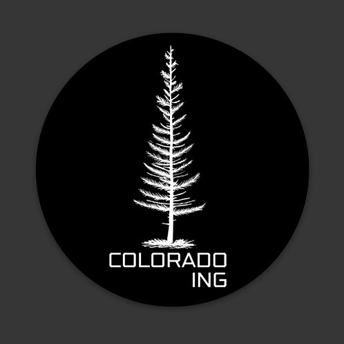 Coloradoing Tree Sticker 3 Inch Round Urban   Casual   Apparel