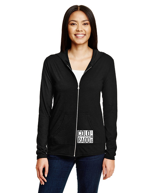 Coloradoing Blocked Hoodie Fitted Womens Urban   Casual   Apparel