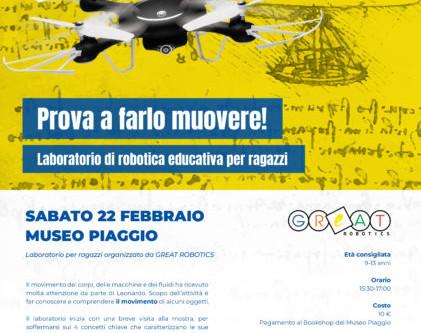 20 Febbraio 2020 Dalle macchine di Leonardo all'Industria 4.0 Museo Piaggio - Pontedera