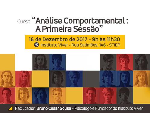 Curso Análise Comportamental: A Primeira Sessão
