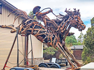 New Roundabout Public Art Display at Prineville City Hall