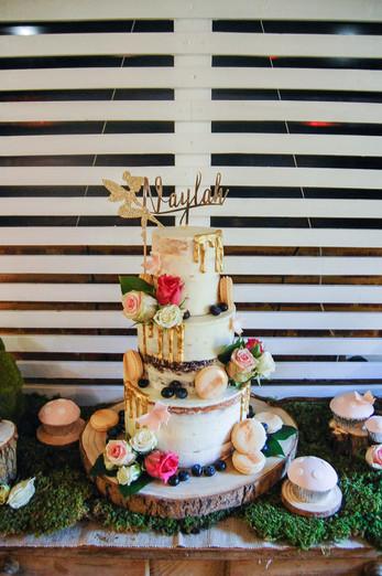 Fairy Garden Naked Cake