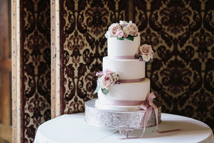 Fully iced wedding cake Ramster Hall