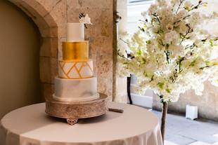 Edible gold leaf wedding cake