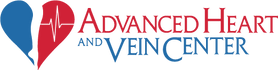 Advanced Heart And Vein Center Logo with Red and Blue Heart