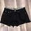 Thumbnail: POL Distressed Black Jean Shorts
