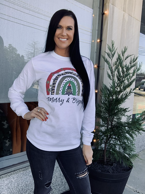 Merry and Bright Long Sleeve Graphic Tee