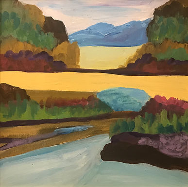 Blue Mountain by Pam Malcuit