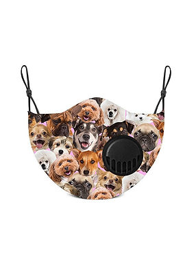 Dog Themed Kids Face Mask With Two Carbon Filters