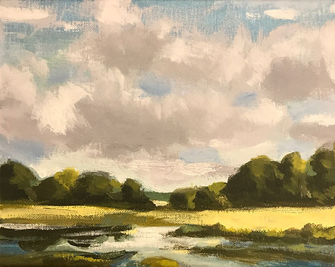 River Valley Landscape Series 7 by Bob Collins