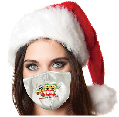 Reusable Face Mask by Snoozies! Elves Christmas