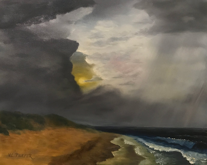 Stormy Beach by Verne Thayer