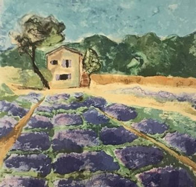 Lavender Field II by Jodie Apeseche - Giclee