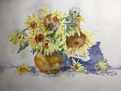 Sunflowers by Michele Clamp