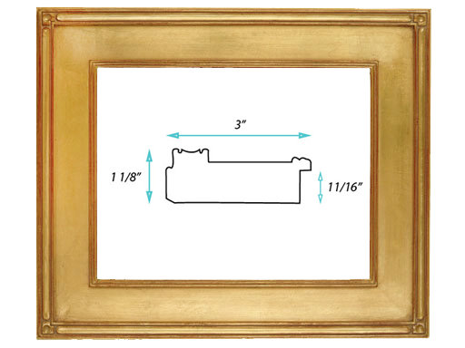 """Gallery Frame #40 - 3"""" Gold"""