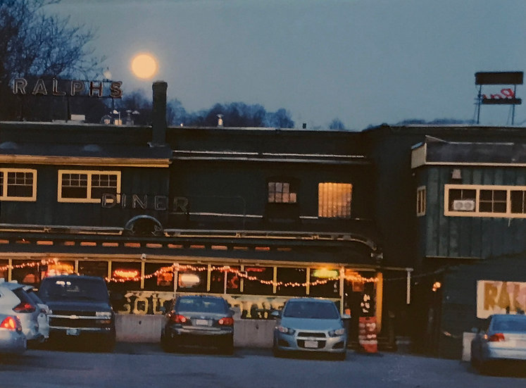 Full Moon at Ralphs Diner by Ed Roche